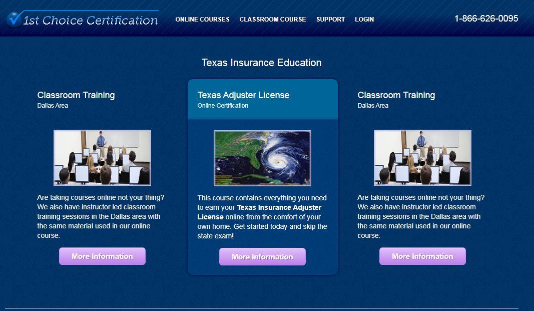 Best Texas Adjuster License Online Courses