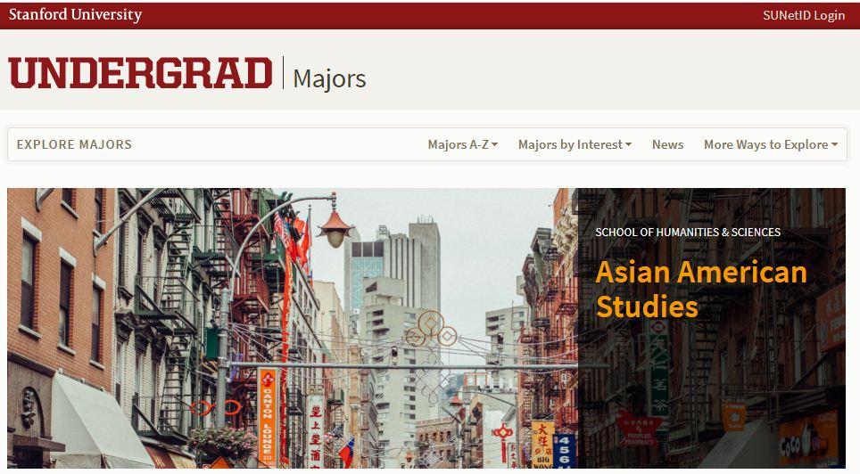 Stanford University Top Majors