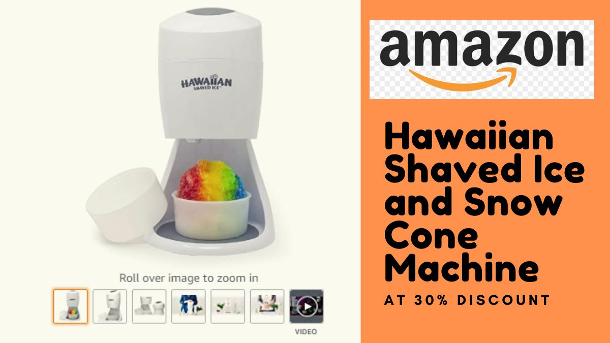 Hawaiian Shaved Ice and Snow Cone Machine at 30% Discount