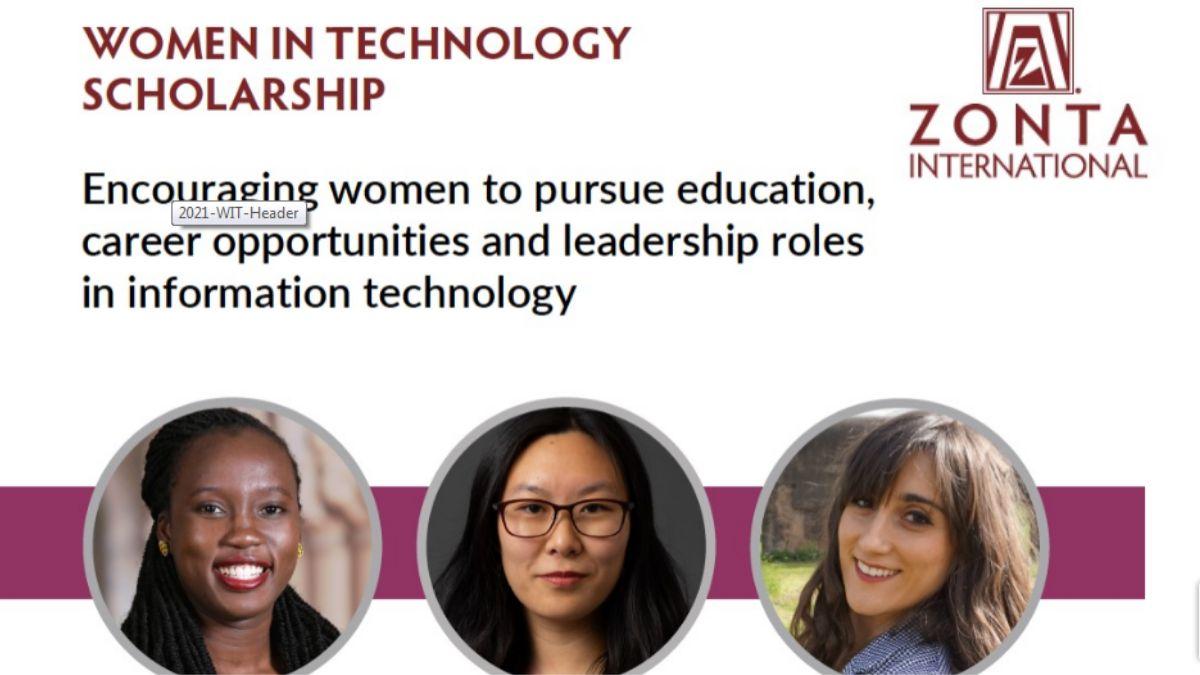 Zonta International Women in Technology Scholarships