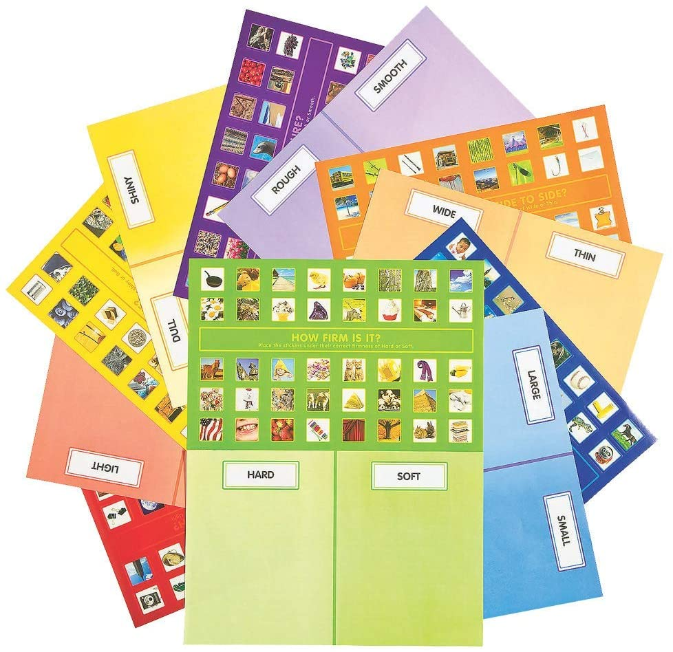 12 Sets of Classifying Sticker Scenes for Classroom Treats and Rewards