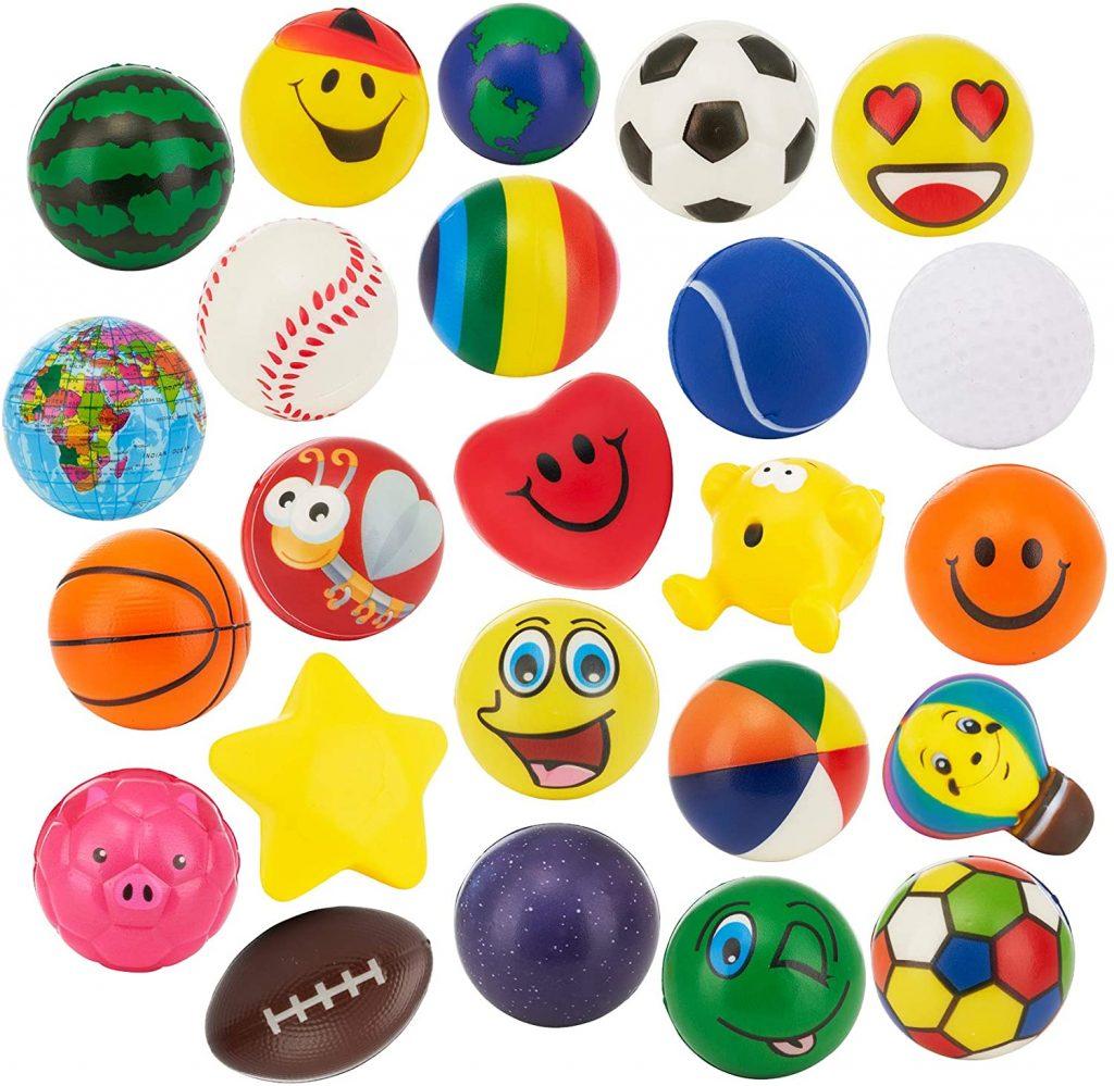 24 Stress Balls - Bulk Pack of 2.5 Stress Balls