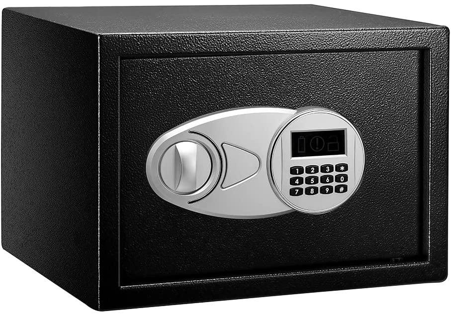 Amazon Basics Steel Security Safe with Programmable Electronic Keypad