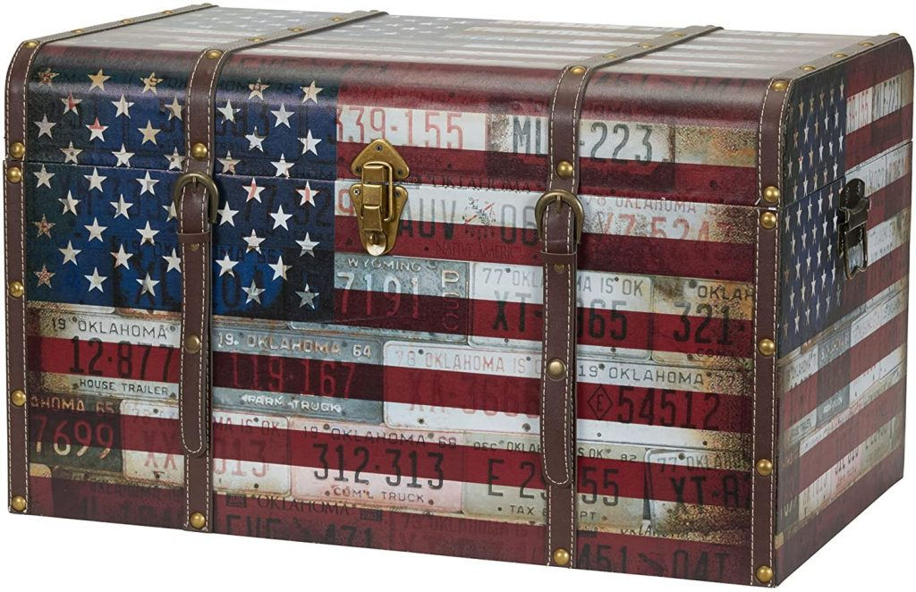 American Flag Design Dorm Trunk