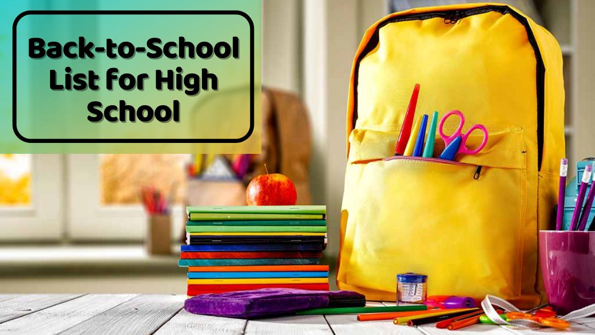 Back-to-School List for High School