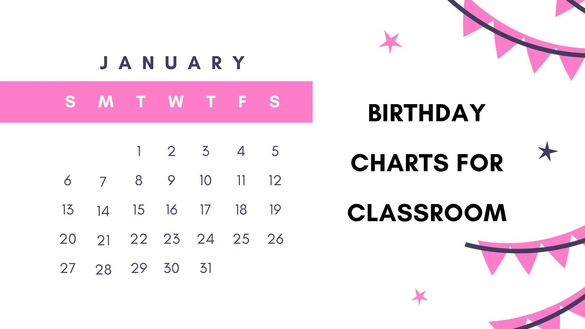 Birthday Charts for Classroom