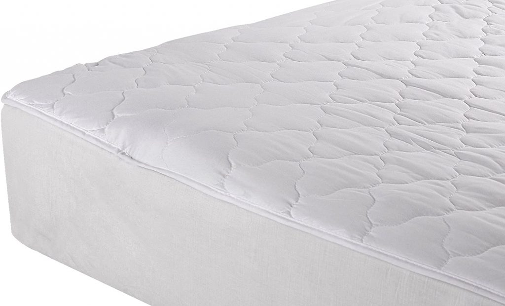 College Dorm Twin Extra Long Quilted Mattress Pad with Cotton Polyester