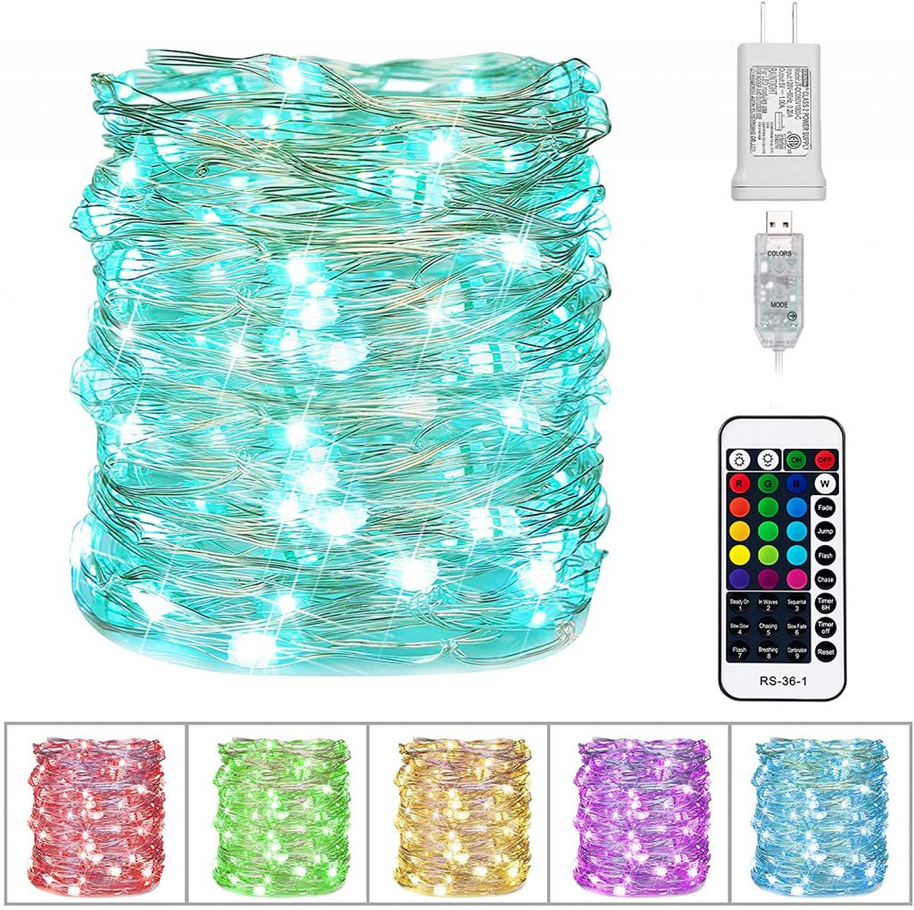 Color Changing String Lights with 33 Feet 100 Led Twinkle Lights