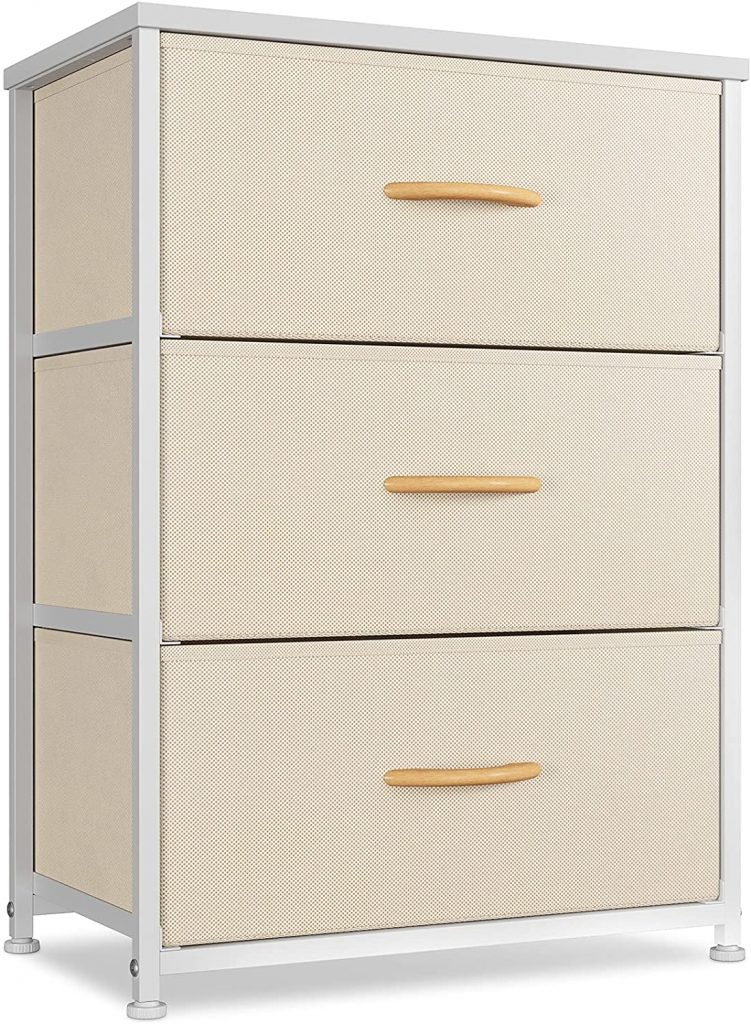 CubiCubi Dresser for Dorms with Nightstand and 3 Drawers