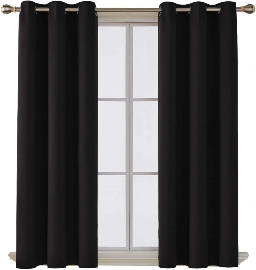 Deconovo Room Darkening Shade Curtains for Dorms with Thermal Insulated Blackout Grommet