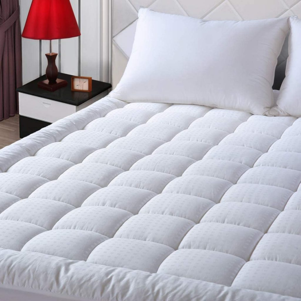 EASELAND Twin XL Mattress Pad with Quilted Fitted Mattress Protector