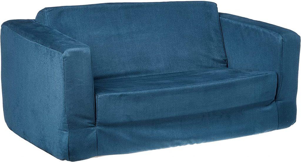 Fun Furnishings Toddler Flip Sofa with Dark Blue Shade