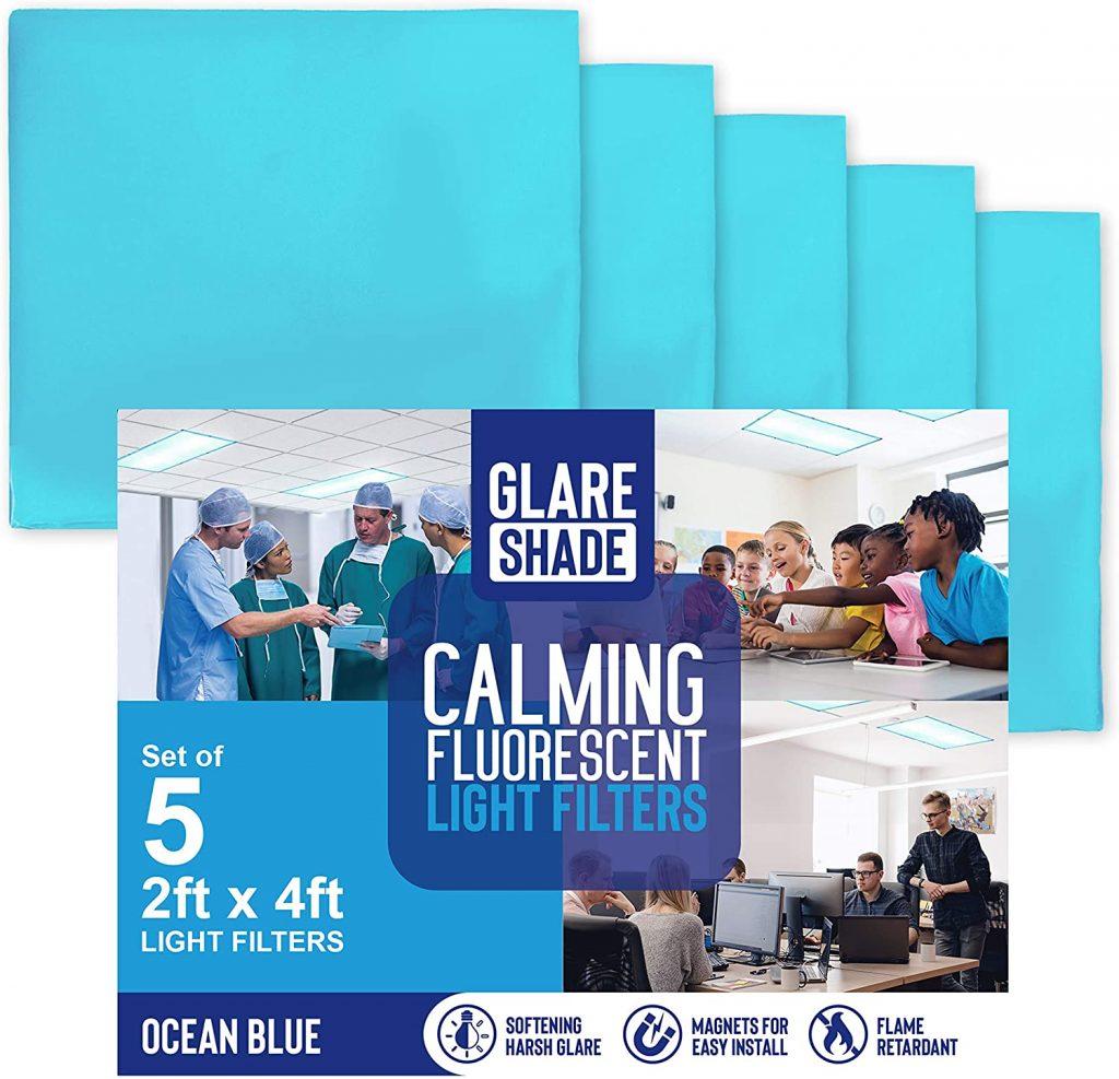 GlareShade Fluorescent Light Coverings