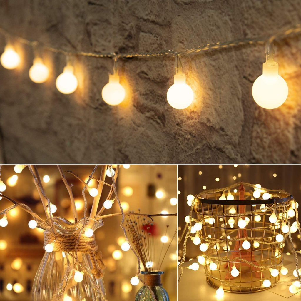 Globe Ball String Lights with 8 Modes Remote controllers