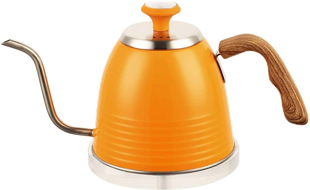 Gooseneck Kettle for Dorms with Thermometer for Exact Temperature