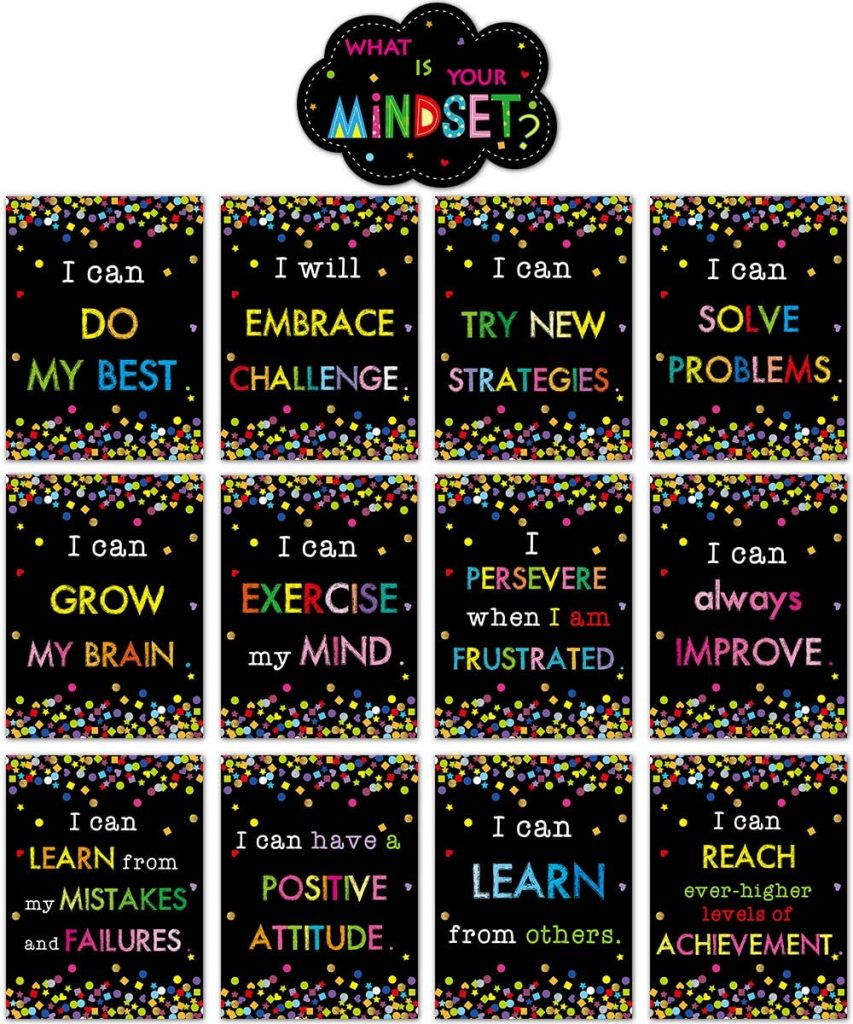Growth Mindset Posters Bulletin Board Display