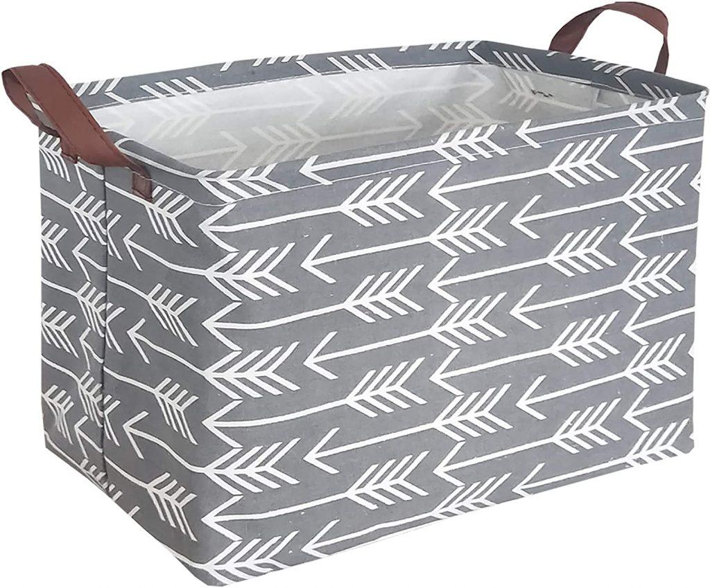 HIYAGON Rectangular Laundry Basket with waterproof PE Coating