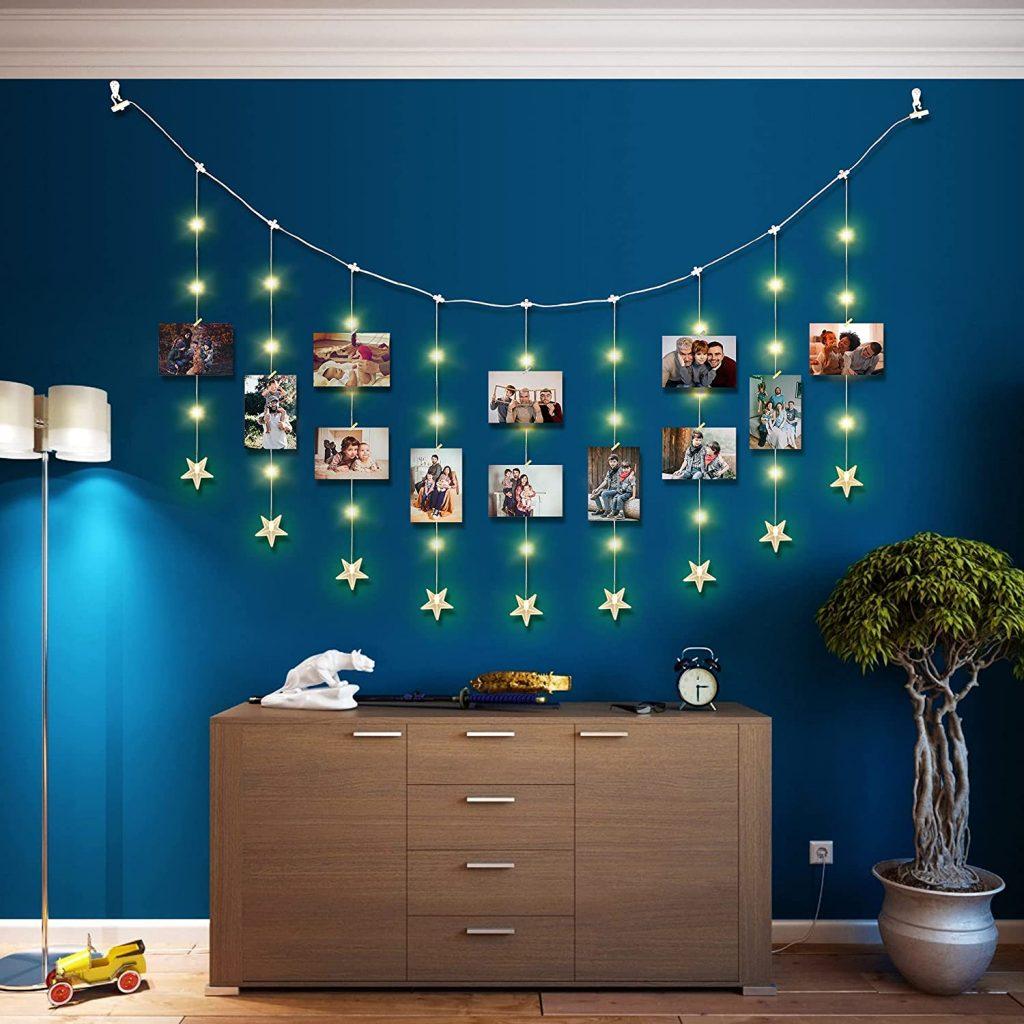 Hanging Photo Display Stars String Lights