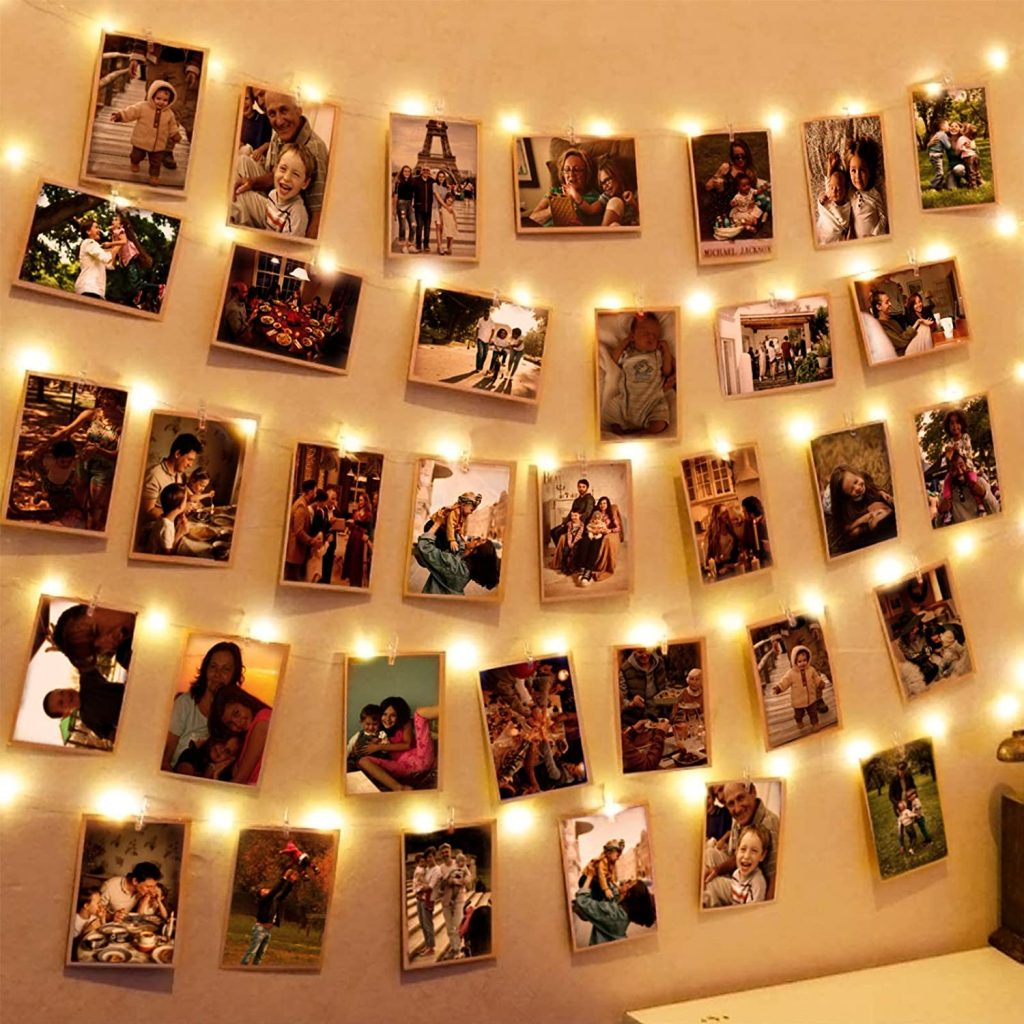 Hatstart light with 100 LEDs Photo Clips String