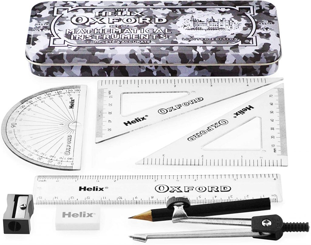 Helix Oxford Camo Maths Set with 9 Pieces