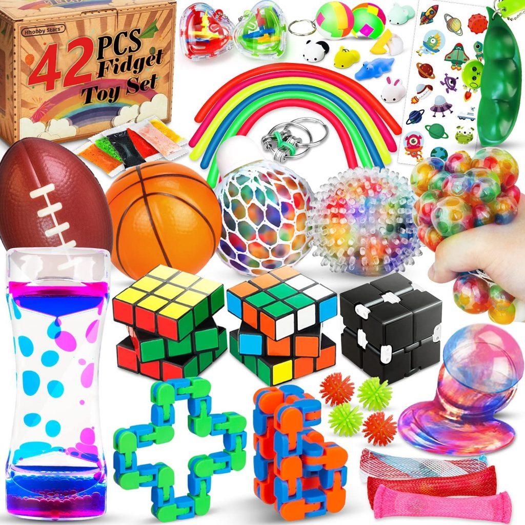 Hhobby Stars 42 Pcs Sensory Fidget Toys Pack