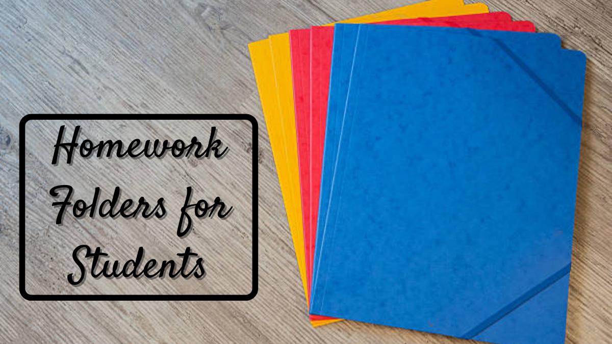 Homework Folders for Students