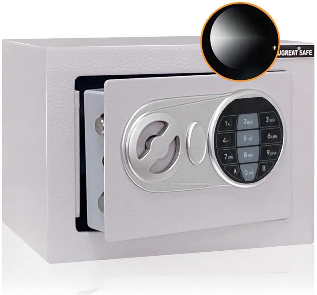 JUGREAT Safe Box with Sensor Light