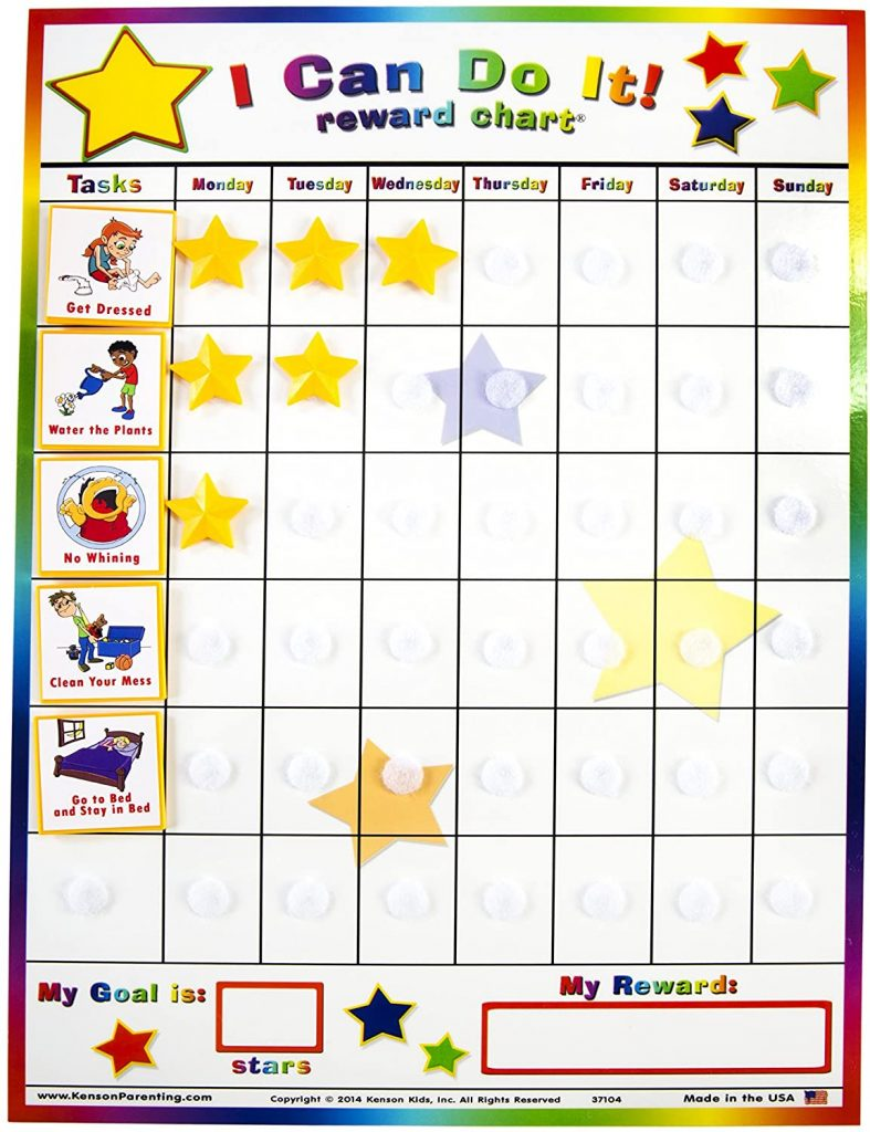 """Kenson Kids """"I Can Do It"""" Reward and Responsibility Chart"""