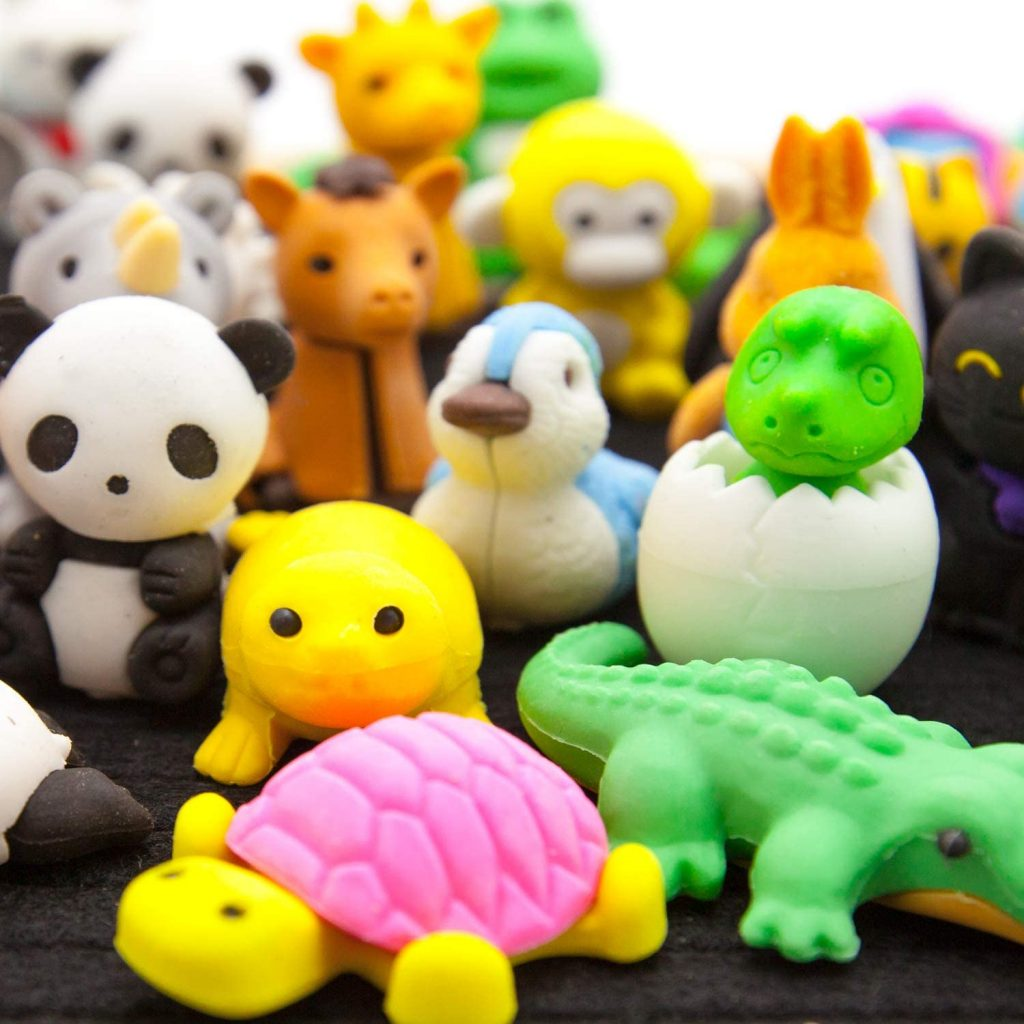 LanMa 70PCS Animal Eraser Puzzle Erasers for Kids Classroom