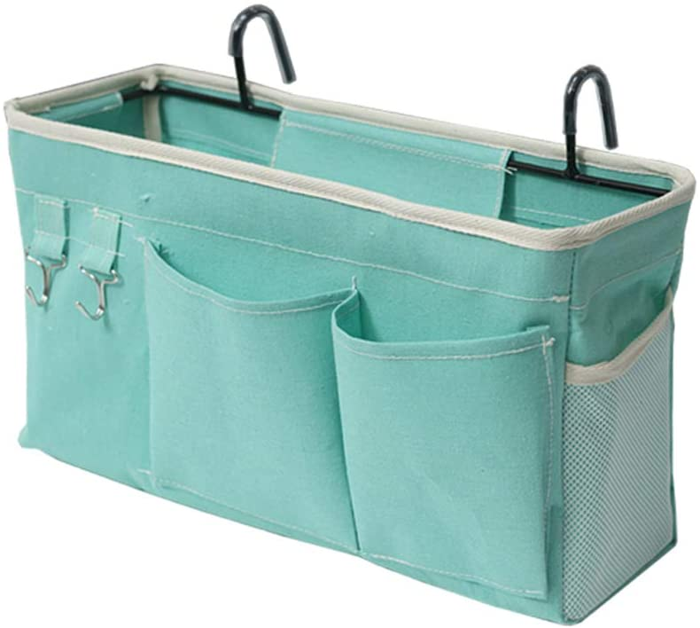 Loghot Bedside Caddy for Dorms with Light Blue Shade