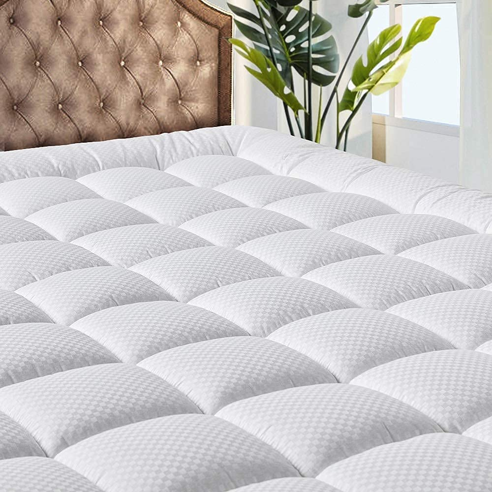 MATBEBY Bedding Quilted Fitted Twin XL Mattress Pad