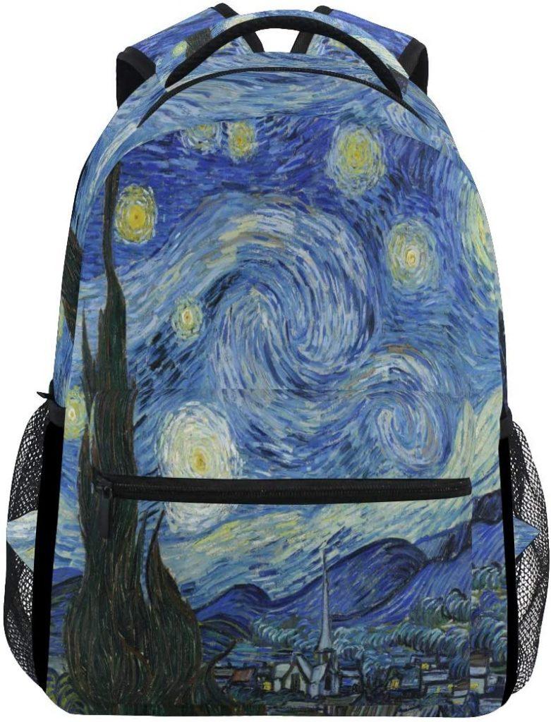 MOFEIYUE Van Gogh Art Starry Night Backpacks