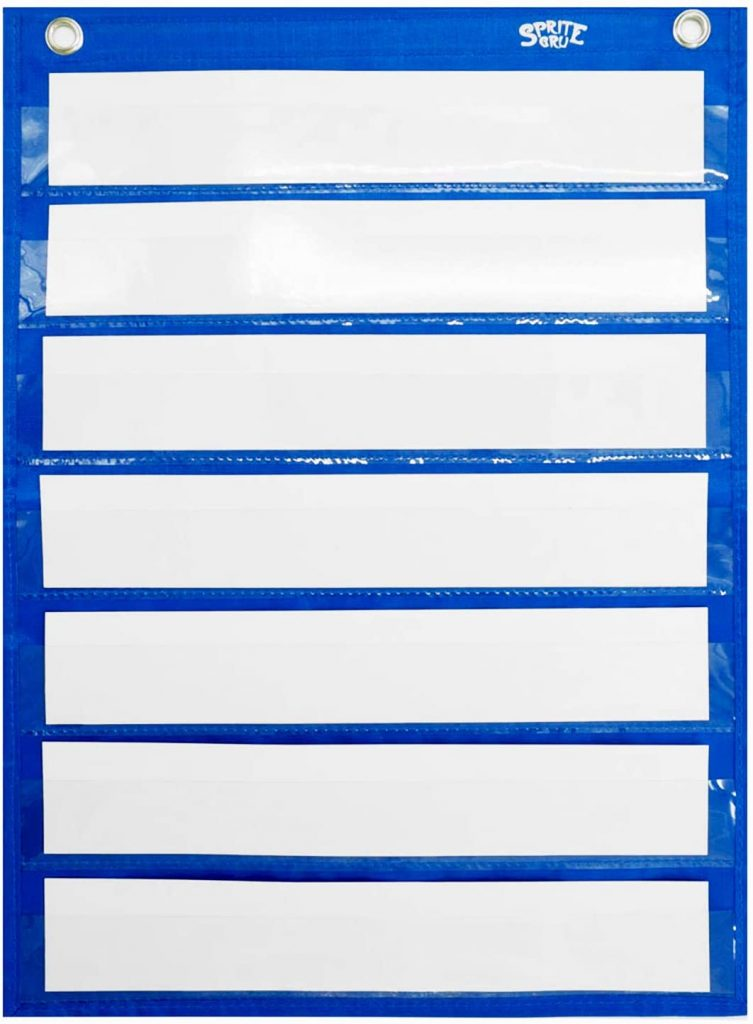 Magnetic Pocket Chart with 10 Dry Erase Cards