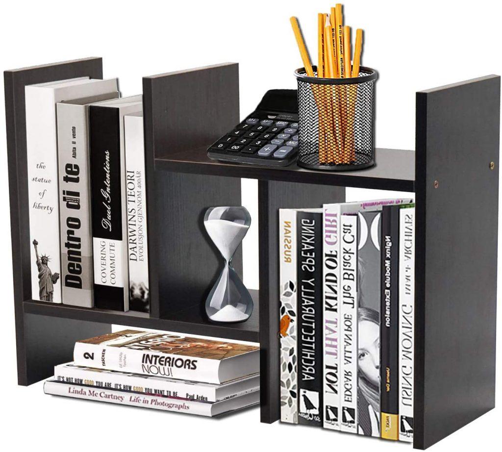 Meikuler Desktop Shelf Organizer with Polished Black Shade