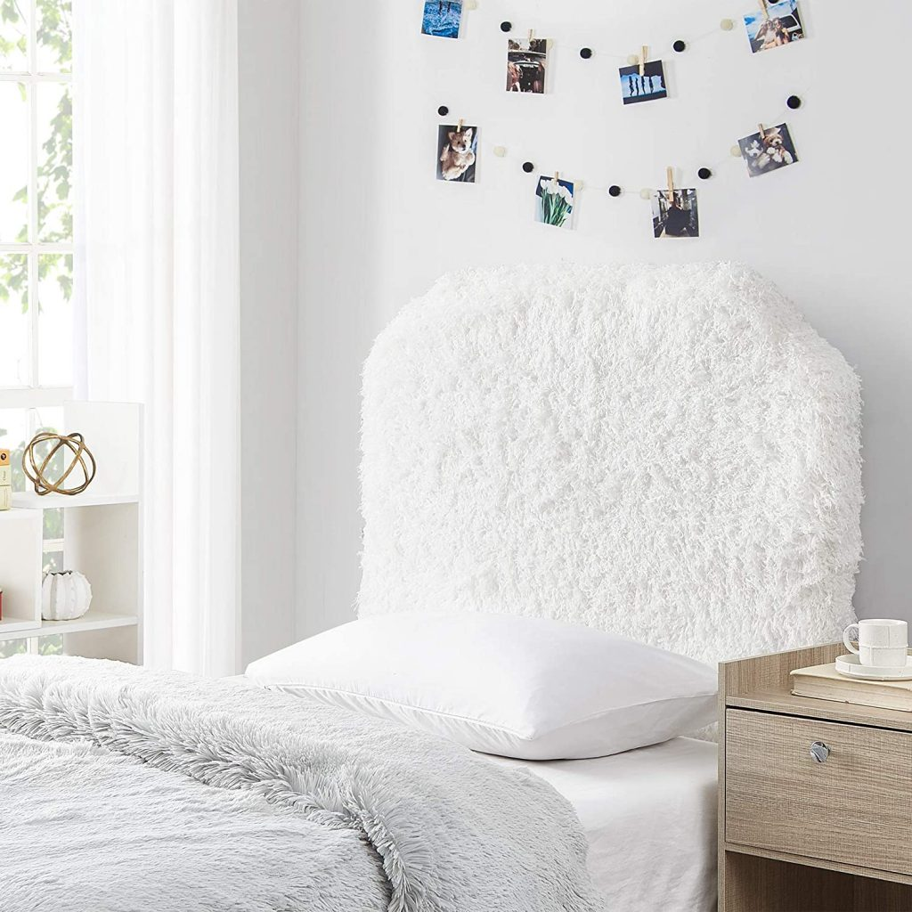 Mo' Fluffy Feathers Dorm Headboard with Plush Texture