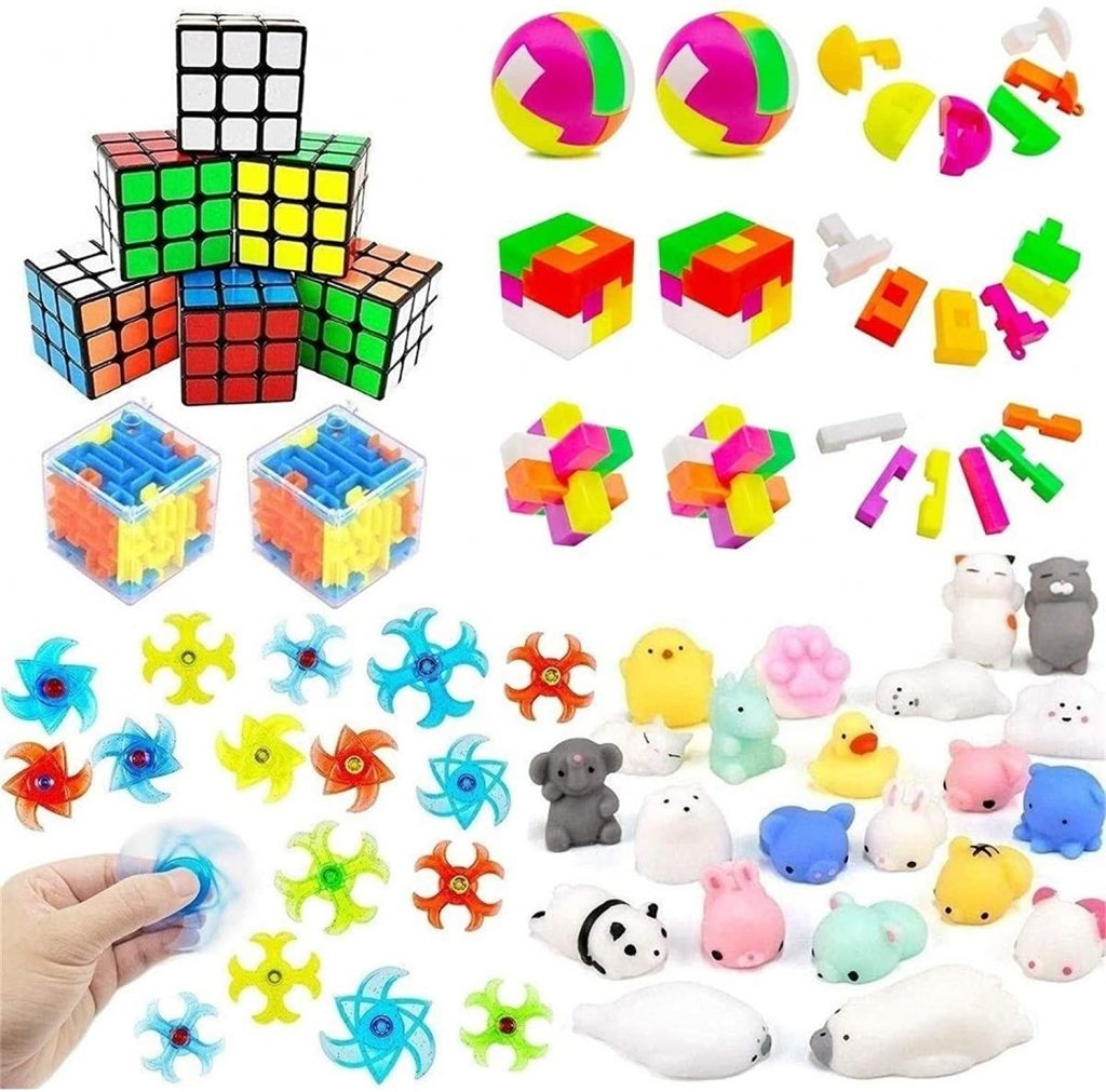 Mochi Squishies,Puzzle Balls,Finger Gyro Spiral Twister Toys forClassroom