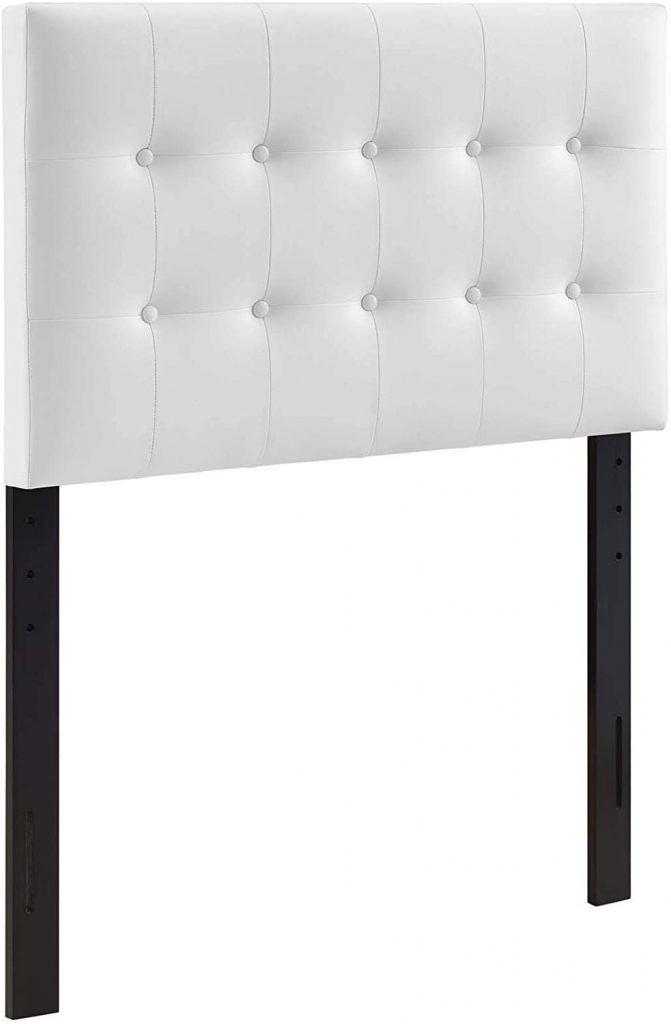 Modway Emily Tufted Headboard with Faux Leather