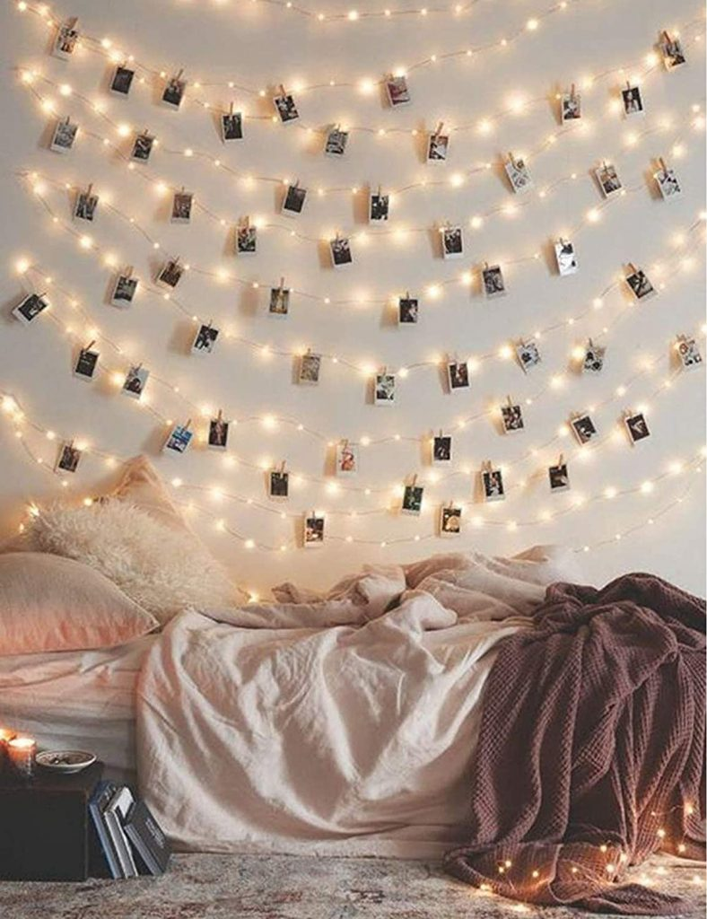 Photo Clip attached string lights with 17Ft - 50 LED String