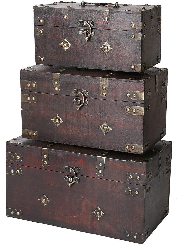 SLPR Montgomery Wooden Storage Trunk with Metal Elements
