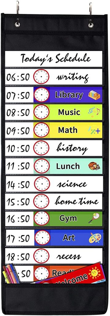 SUNEE Daily Schedule Pocket Chart