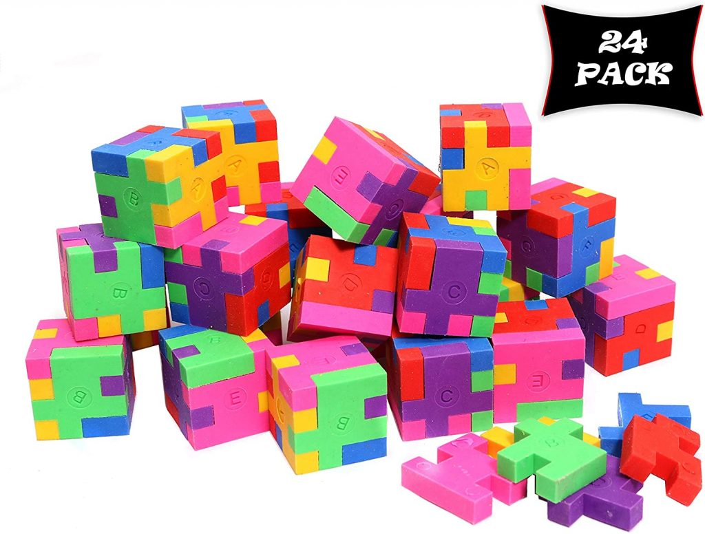 Smart Novelty Cubic Puzzle Erasers for Kids School Supplies and Treasure Box