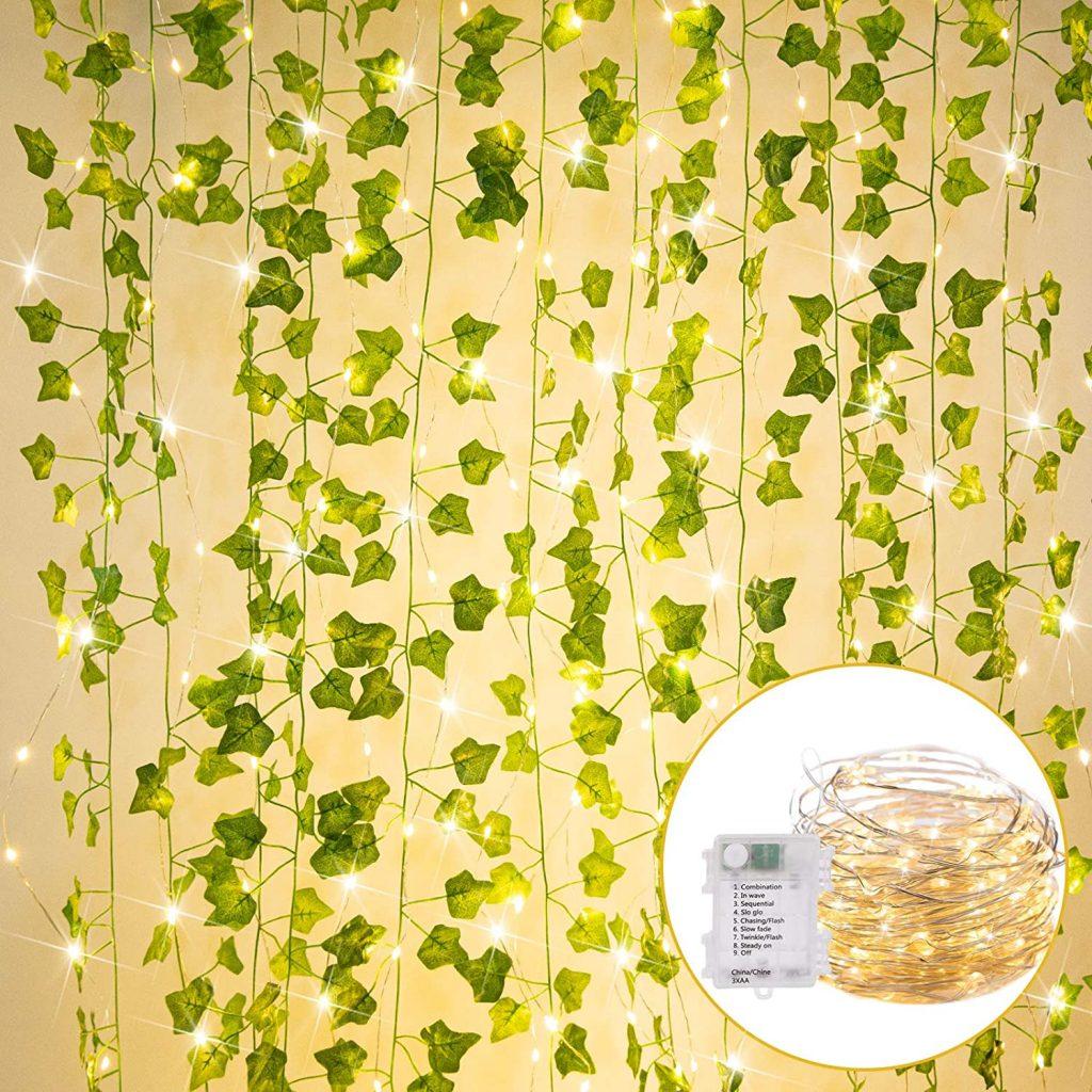 String lights with 36 Ft. Artificial Ivy Vine 110 LED Lights