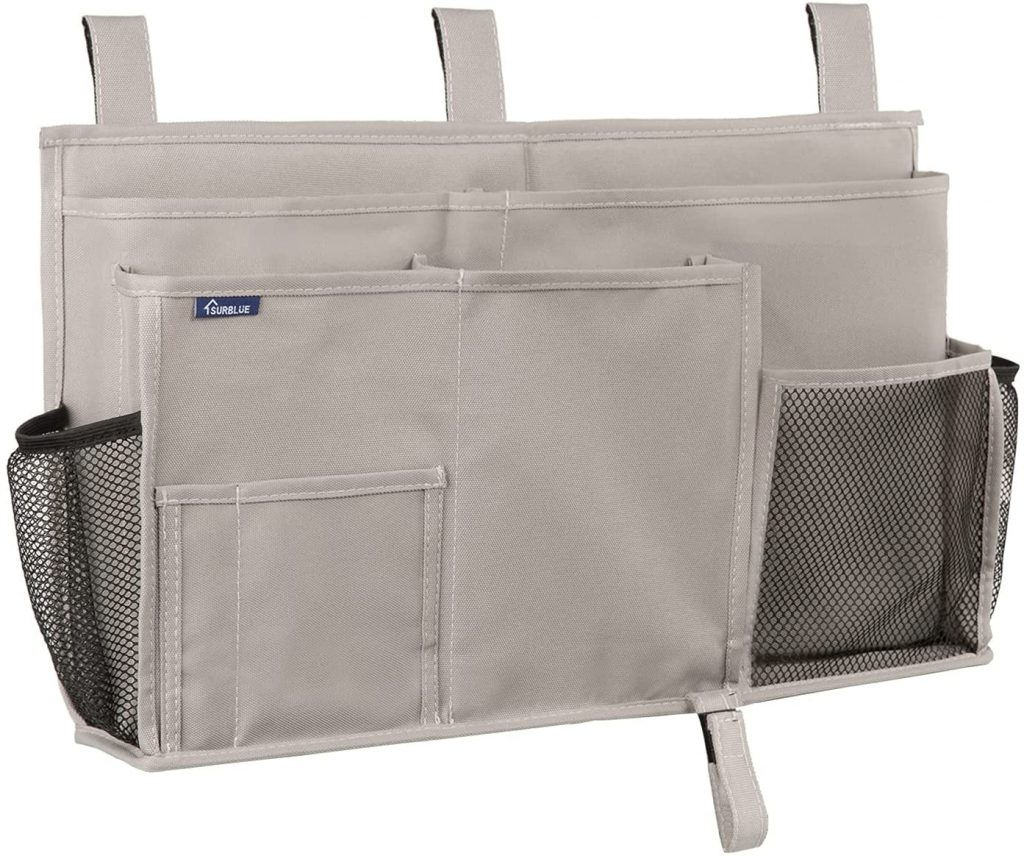 Surblue Bedside Caddy Hanging Bed Organizer
