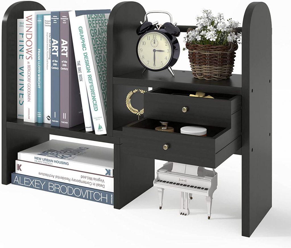 T-SIGN Desktop Bookshelf with 2 Drawers