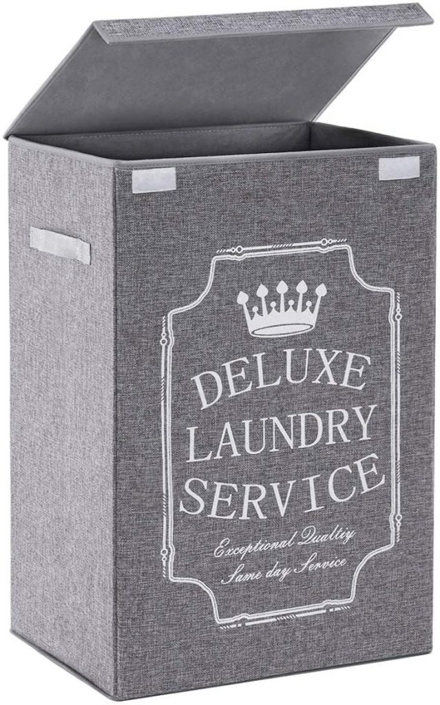 TECHMILLY Tall Laundry Hamper with Lidand Handles