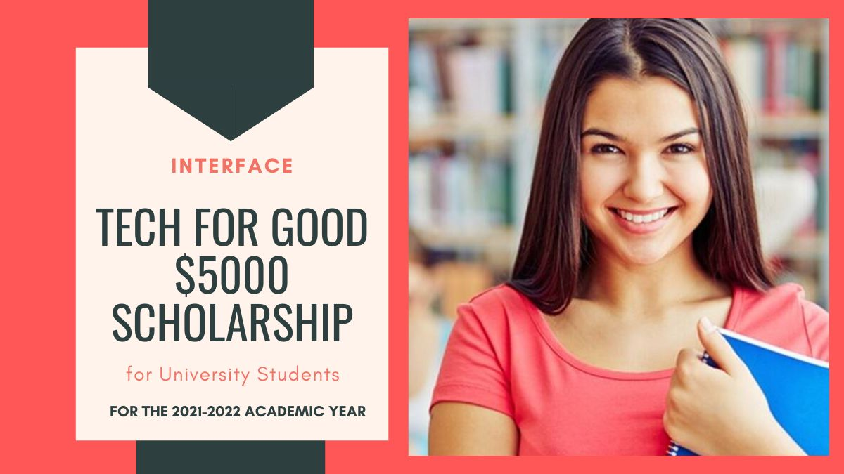 Tech for Good $5000 Scholarship for University Students