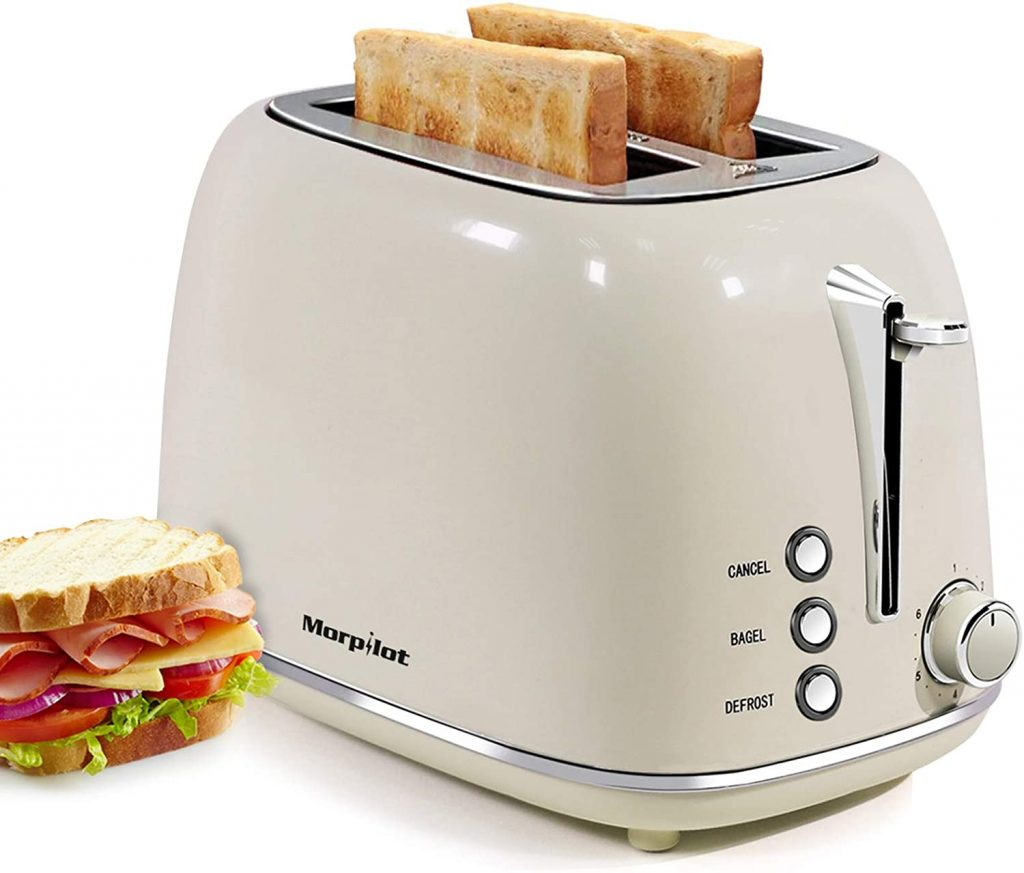 Toaster for Dorms with Two Slices and Removable Crumb Tray