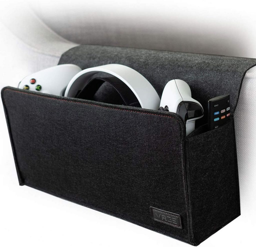 VRGE - Couch Bedside Gaming Organizer Caddy