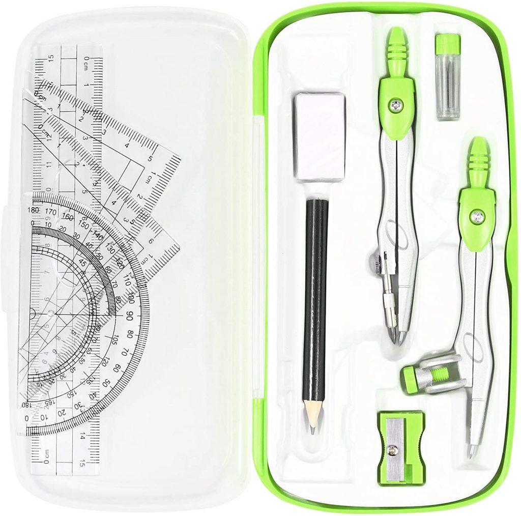 Vobou Math Geometry Kit Set with Shatterproof Storage Box