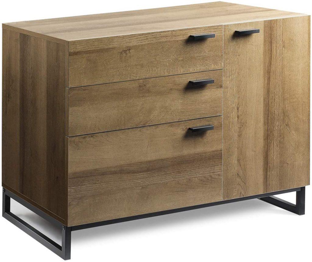 WLIVE 3 Drawer Dresser with 1 Side Door